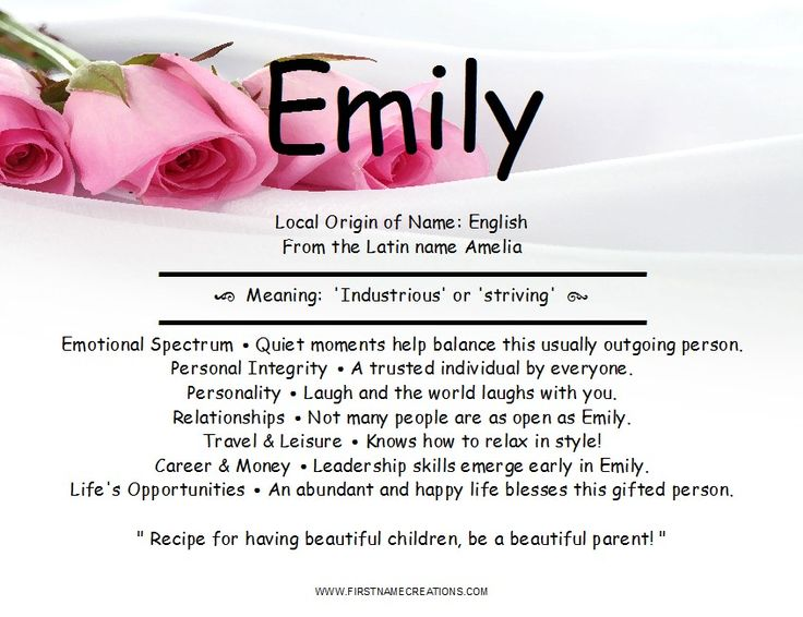 Best 20+ Emily name ideas on Pinterest - photo#47