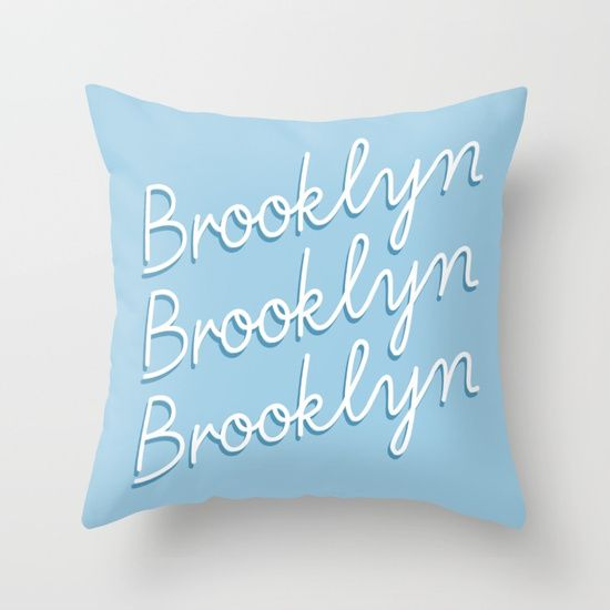 Brooklyn Typography Throw Pillow