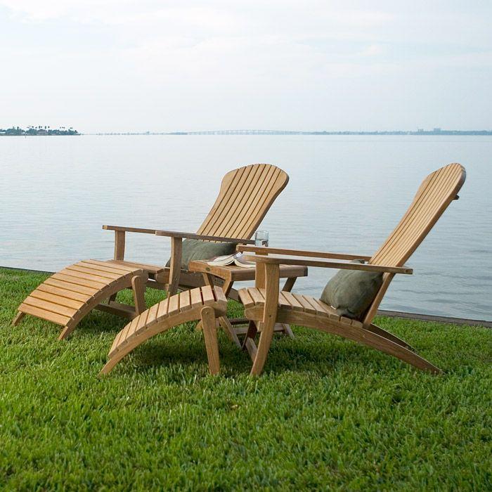 Lovely Teak Wood Adirondack Chair Design Ideas