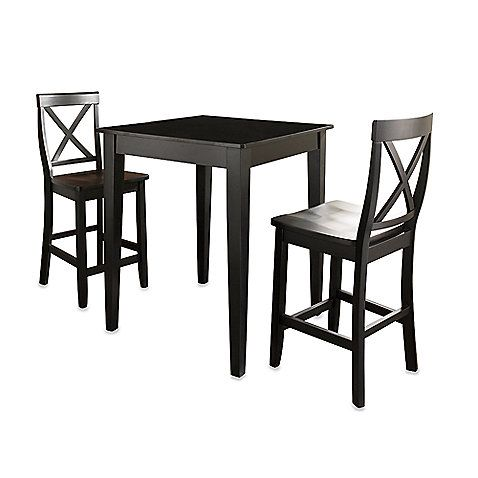 ... Family Room Or Even A Basement Bar Area, The Warm Classic Finish Of  This Pub Set Brings Style To Any Dining Area. The Tall Bistro Style Table  Has ...