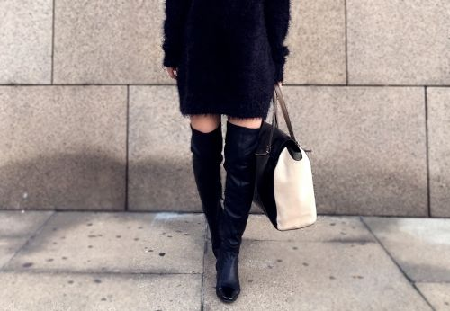over the knee boots outfit style