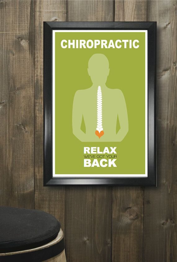 Chiropractic 11x17 minimalism poster - there's one for almost every faculty