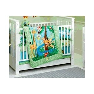 Fisher Price Rainforest Jumping Tiger 4 Piece Crib