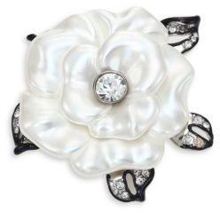 Kenneth Jay Lane Faux-Pearl Flower Pin