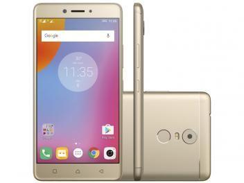 """Smartphone Lenovo Vibe K6 Plus 32GB Dourado - Dual Chip 4G Câm. 16MP + Selfie 8MP Tela 5.5"""""""