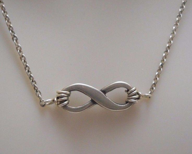 "#SterlingSilver #Infinity #Necklace #Pendant 1.3g, 17"" EUC! #JamesAvery #Jewelry #Jewellery #ValentinesDay"