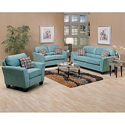 Westwood Tiffany Blue Microfiber Furniture Set