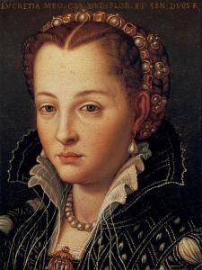 Lucretia Borgia, daughter of pope Alexander VI (Rodrigo Borgia) and Vanozza Catanei. Luckily for Lucretia, she looked like her mother.