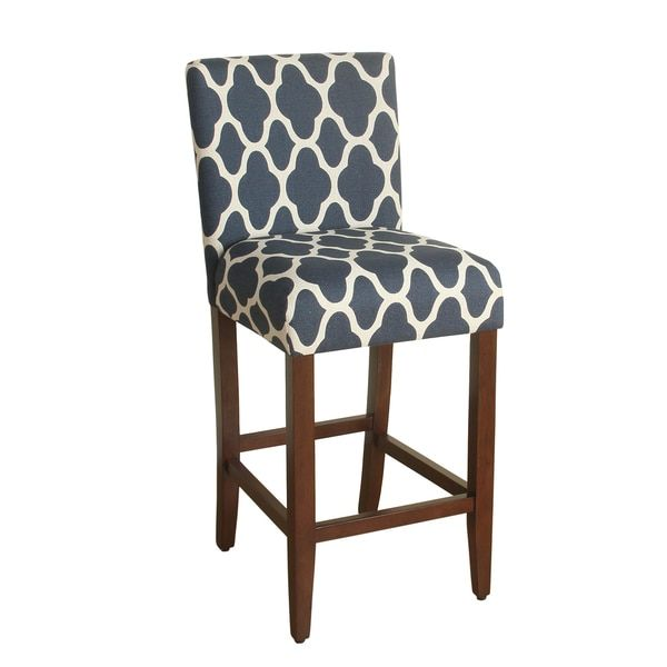 Another Great Find On Geo Brights Navy Blue Bar Height Upholstered Barstool