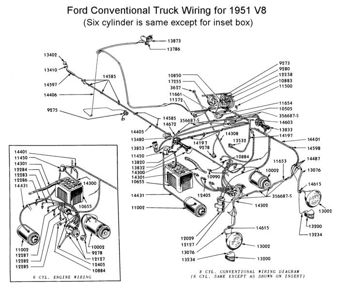 wiring diagram for 1950 ford car flathead_electrical_wirediagram1951truck.jpg (700×598 ...