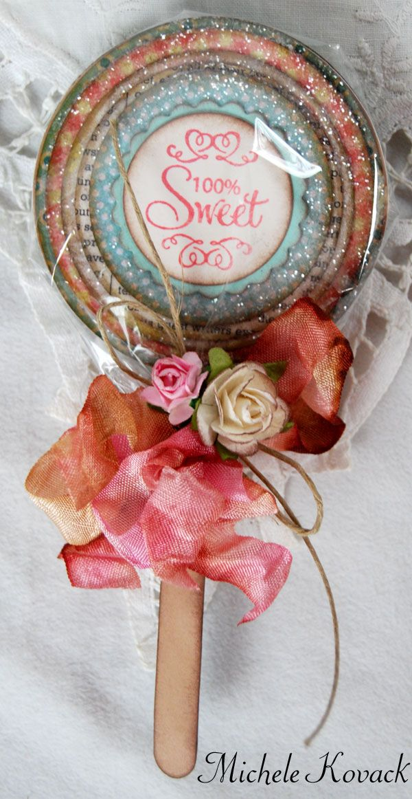 lollipop card - love this: Idea, Craft, Sweet, Cardmaking Scrapbooker, Lollipop Card, Valentine, Lollipops, Cards