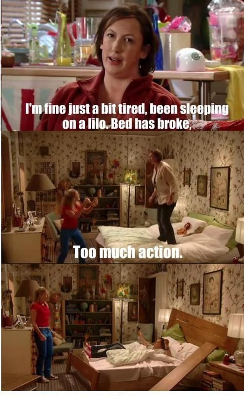 Too much action (Miranda Hart)