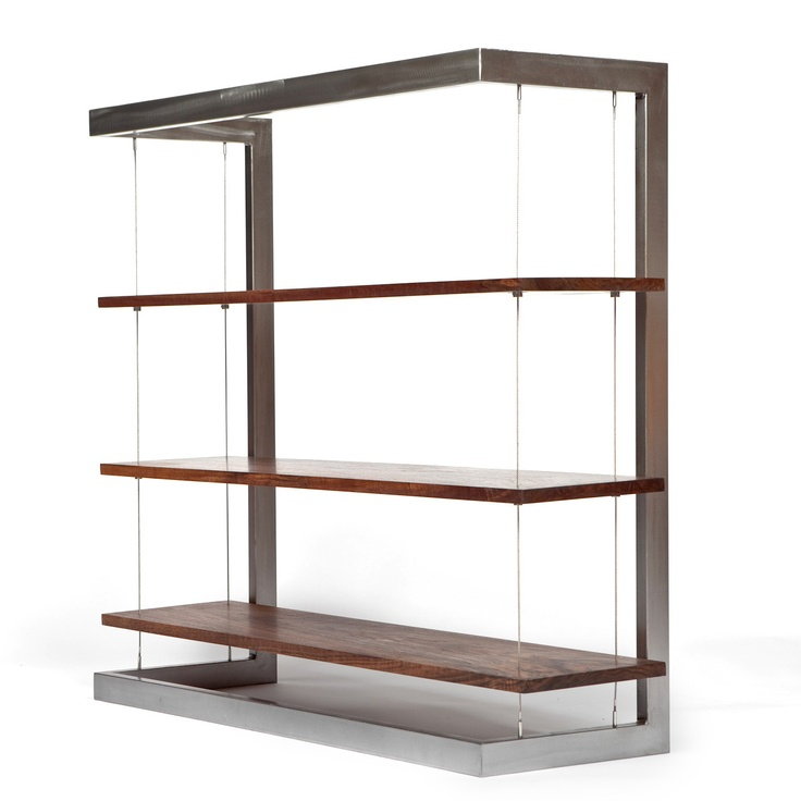 Fab.com | Suspended Bookshelf Walnut Small $1549