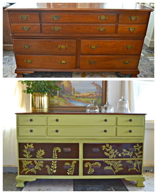 Heir and Space: A Vintage Cherry Dresser with Ferns