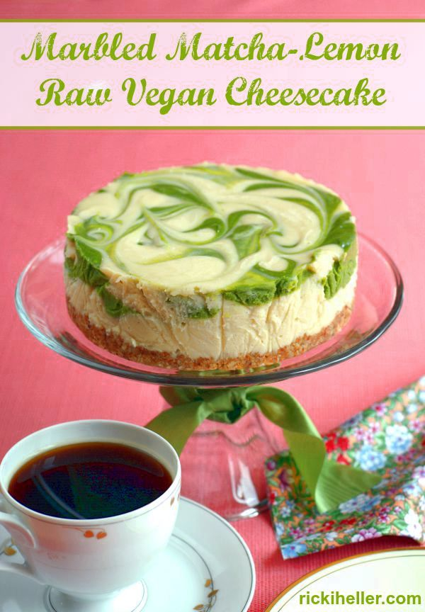 Gluten-free, candida diet marbled matcha cheesecake (#vegan, #sugarfree #recipe) /rickiheller/