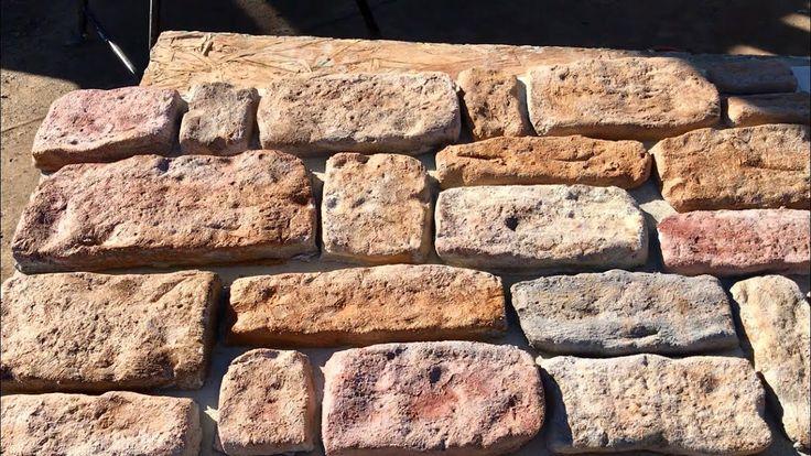 Como Hacer Piedra Fachaleta Sin Ningún Tipo De Moldes Making Stone Van Paredes Decoradas Con Piedra Fachaleta Fachaleta De Ladrillo
