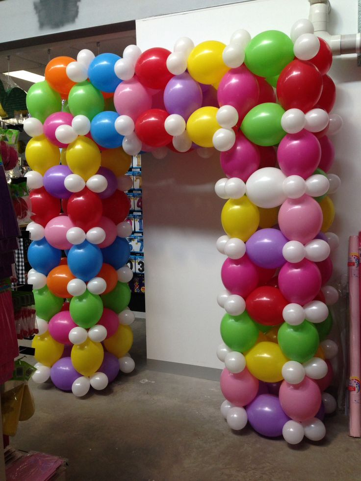 Link o loon balloon arch made by Let's Celebrate Parties