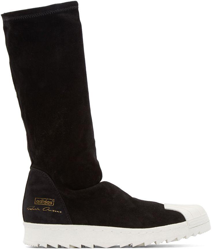 Rick Owens - Black Superstar Ripple adidas by Rick Owens Sneakers