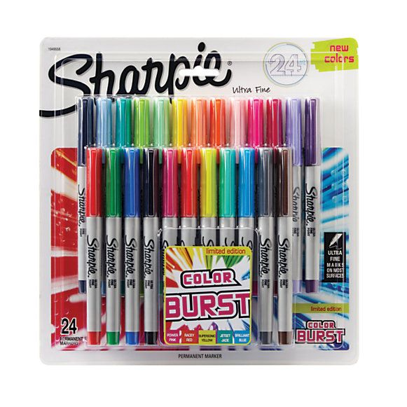 Sharpie Color Burst Permanent Markers Ultra Fine Point Assorted Colors Pack Of 24 by Office Depot & OfficeMax