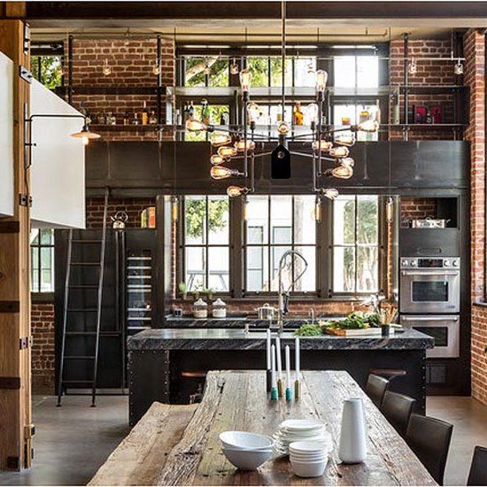 Top 25 best industrial chic kitchen ideas on pinterest industrial cookbooks industrial - Industrial home design ...