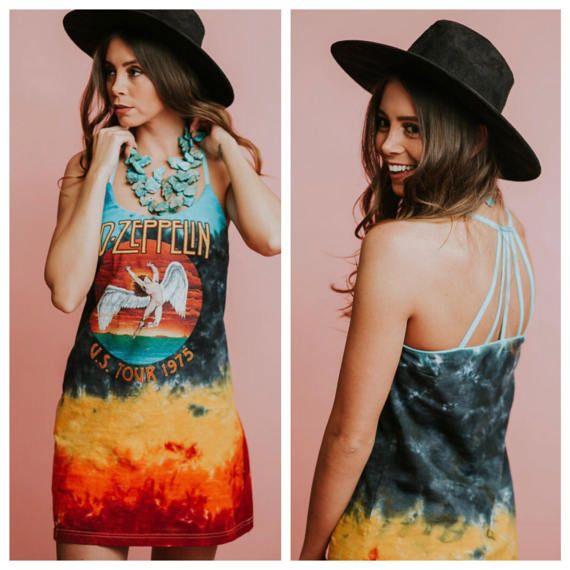 T shirt dress vintage concert t shirt Led Zeppelin dress