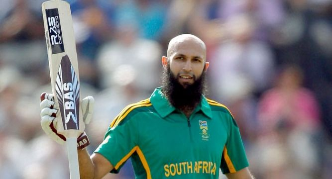 Hashim Amla was unbeaten on 178 as South Africa reached 449 for four at lunch on the second day of the first Test against the West Indies at SuperSport Park.