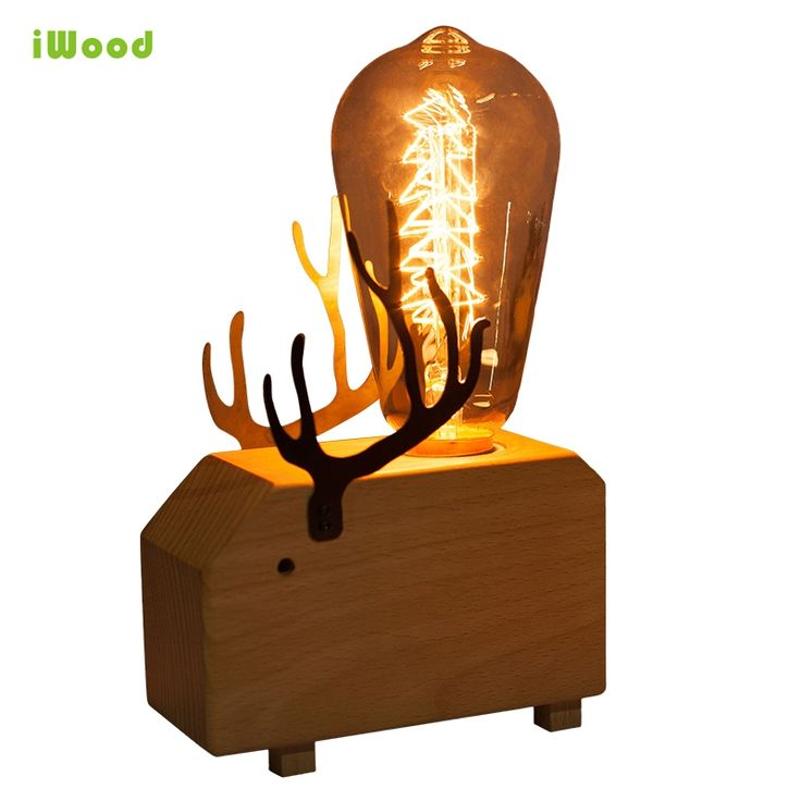 79.8$  Know more - Modern Nordic Art Animal Dimmable Wooden Table Desk Lamps with Vintage 40w E27 Edison Bulb for Bedroom Deer Dolphin Elephant   #shopstyle