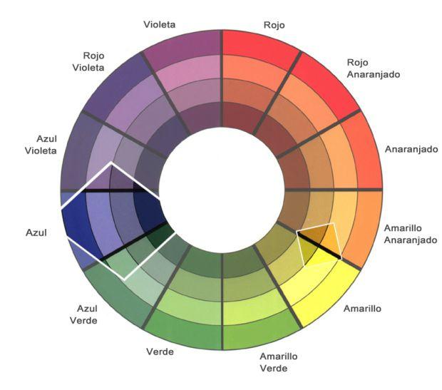 Si quieres lucir un maquillaje casual, muy natural, ideal para el día,  utiliza los colores o tonos que están inmediatamente al lado del azul en sus tonalidades más suaves y pasteles. Estos son los celestes, azules pasteles, morados o violetas azulados, verdes suaves. Para que el look sea más natural, combínalos con tonos 'nude', sombras en tonalidades cremas o beiges.
