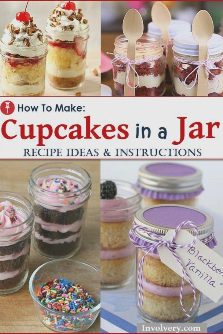cupcake ideas - cupcakes in a jar -mason jar diy creative cupcakes