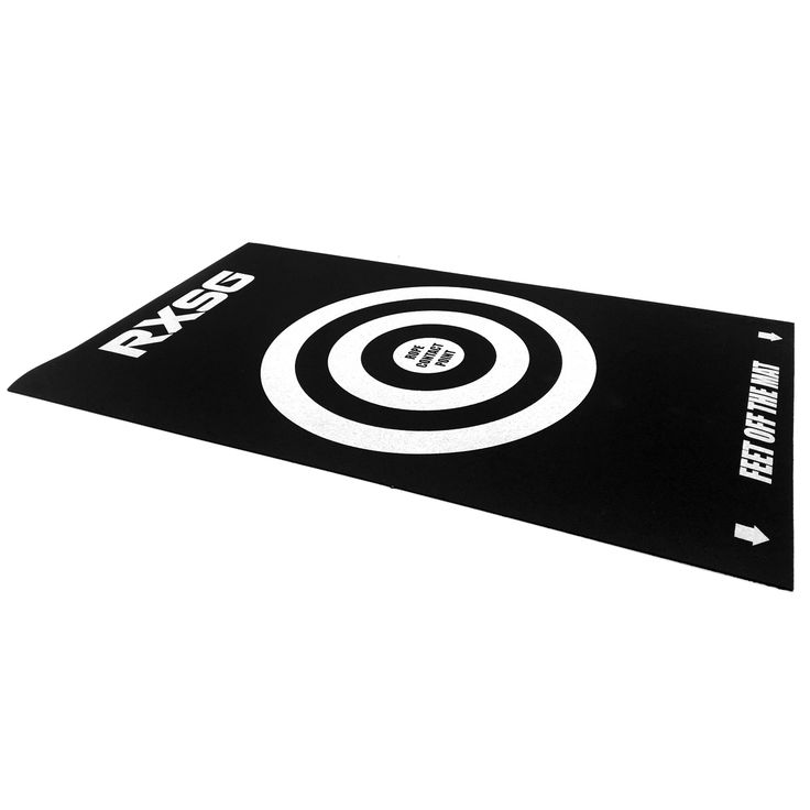 The Rx Smart Gear Target Mat is your mobile answer to take jump rope training outdoors while also promoting accuracy in your jump rope skills . At 16 inches x 27 inches the Target Mat is the perfect size to take on the go and give your rope all the protection it needs on outdoor surfaces while the target graphic and foot position markings promote ideal rope to body spacing. Throw it in the custom carry bag and grab your Rx jump rope and take your cardio fitness anywhere you want to go.
