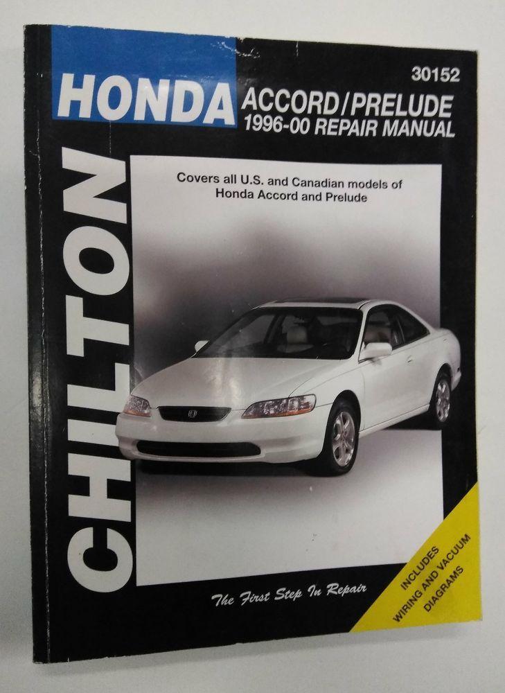 Prelude Repair Manual 1996-2000 Honda Accord