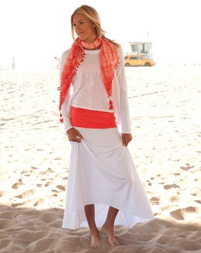 Fresh Produce Clothing--- really like this look! And the line of the skirt!