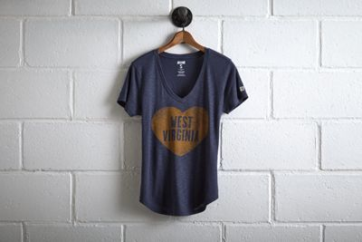 Tailgate WVU V-Neck by  American Eagle Outfitters | The WVU Mountaineer, adorned in a custom-tailored buckskin costume and coonskin cap, fires his musket at the start of each game and with every score. Shop the Tailgate WVU V-Neck and check out more at AE.com.