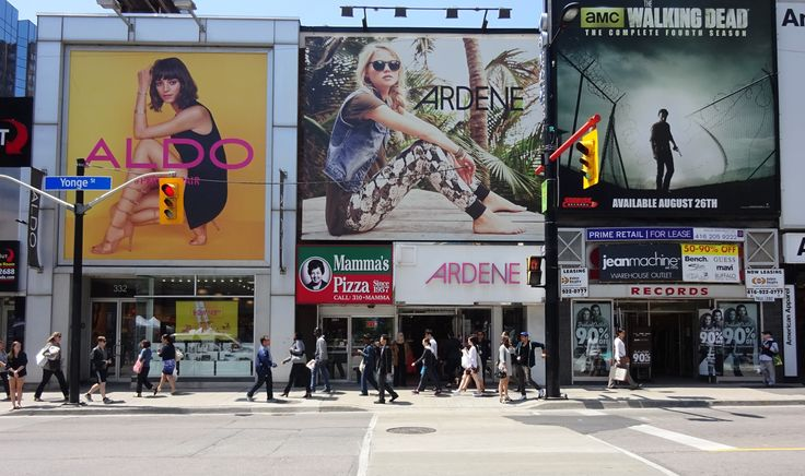 Intersection of Yonge & Gould Streets, Toronto