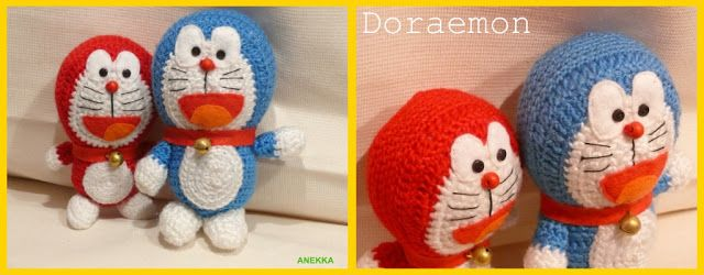 Amigurumi Doraemon Tutorial : doraemon amigurumi Anekka handmade Pinterest