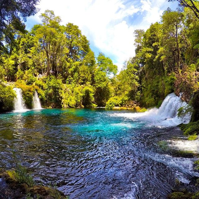 Do go chasing waterfalls. Ojos Del Caburgua, Pucon, Chile. Photo courtesy of travelerbynature on Instagram.