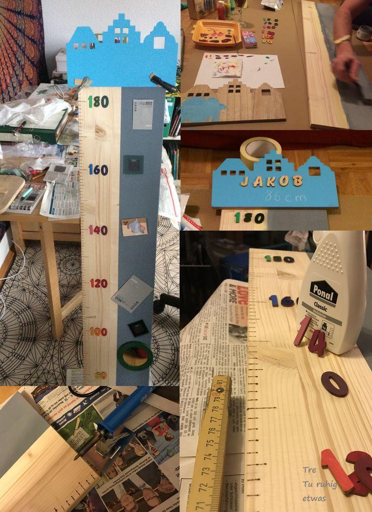 Kindermesslatte Aus Holz Selber Machen (DIY Growth Chart) Eine  Wachstumsleiste Gehört In Jedes Kinderzimmer