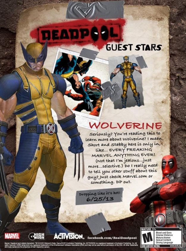 Wolverine Confirmed to Appear in Deadpool Video Game