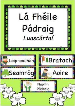 Luascrta+lainne+i+nGaeilge+le+haghaidh+L+'le+Pdraig.+Meascn+de+luascrta+a+bhaineann+lena+shaol+agus+cinn+ireannacha.Priontil,+lannaigh+&+coimed+go+deo.Irish+language+flashcards+for+St+Patrick's+Day.Print,+laminate+&+keep+forever!