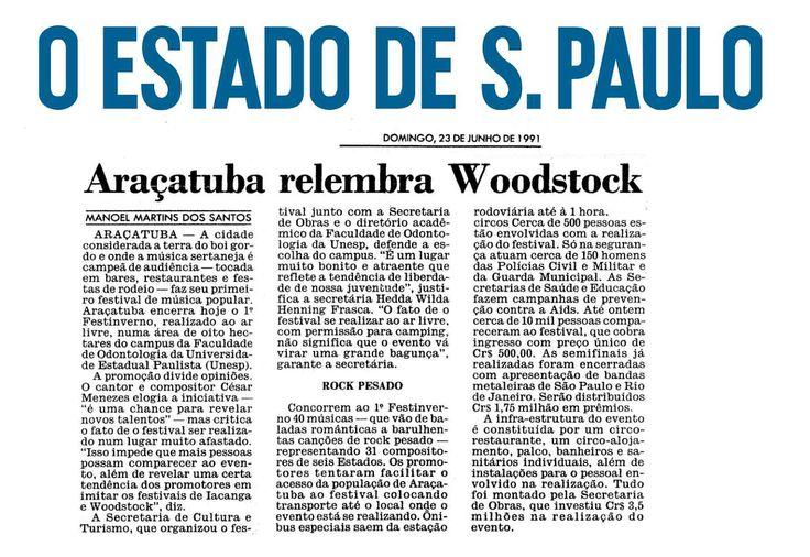 Araçatuba relembra Woodstock