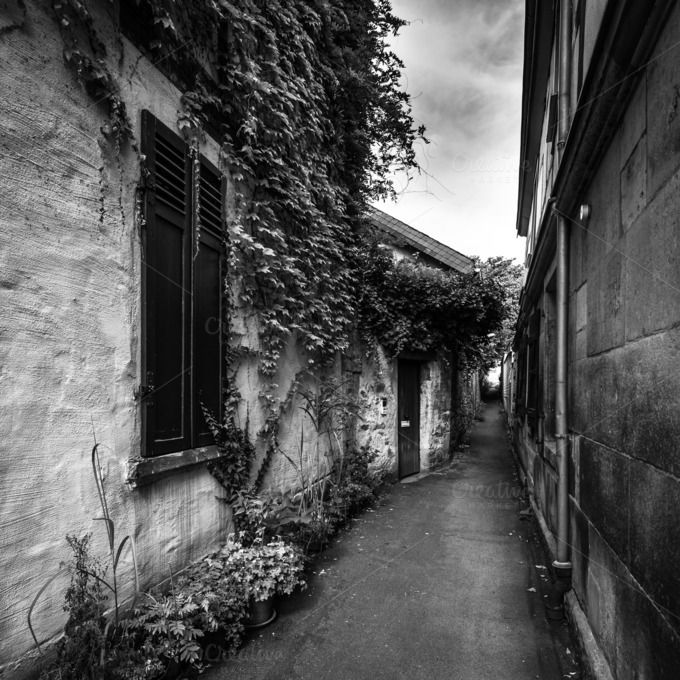 Check out Narrow alley by Screeny's Photo Bucket on Creative Market