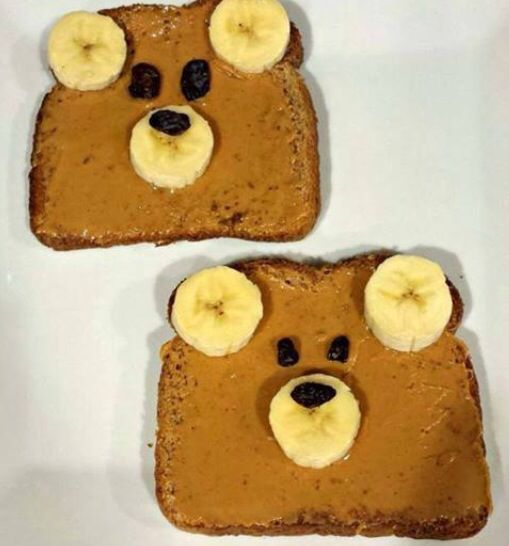 Teddy bear toast: