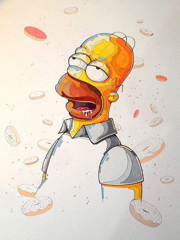Homero Simpson on Behance