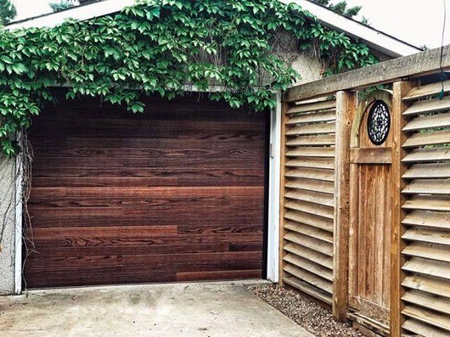C H I Planks Garage Door In Dark Oak Garage Door Styles Garage Doors Overhead Door