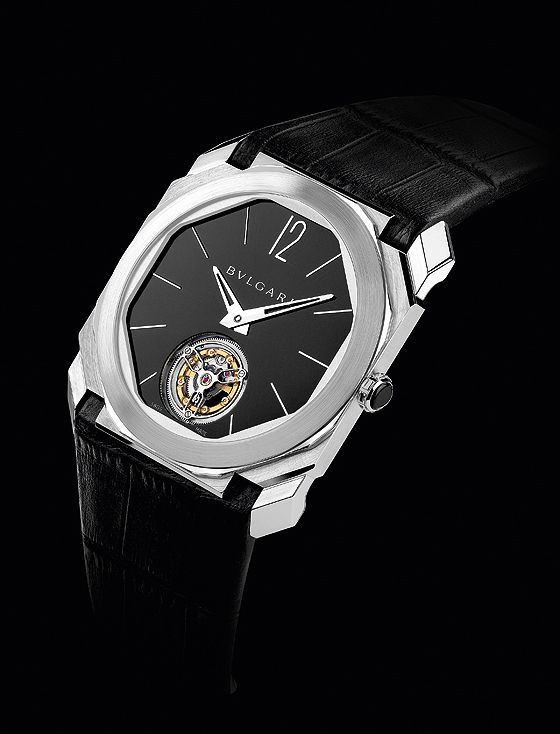 """The @bulgari Octo Finissimo Tourbillon claims the title of """"world's thinnest tourbillon;"""" its movement is only 1.95 mm thick and its case measures a mere 5 mm thick. #bulgari #watchtime #luxurywatch"""
