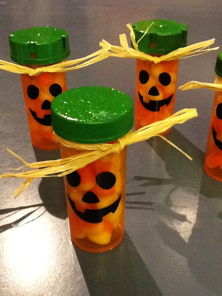 Prescription bottle pumpkins.