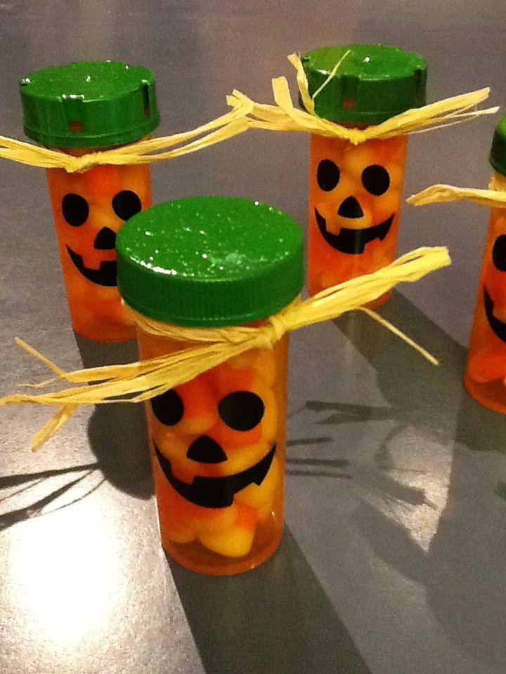 Prescription bottle pumpkins.