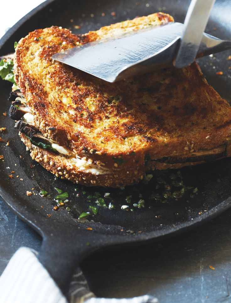 Roasted Mushroom and Gouda Grilled-Cheese Sandwiches