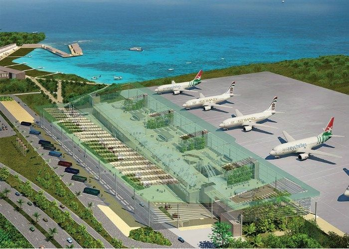 because of an increase in tourism Seychelles is building a new international airport