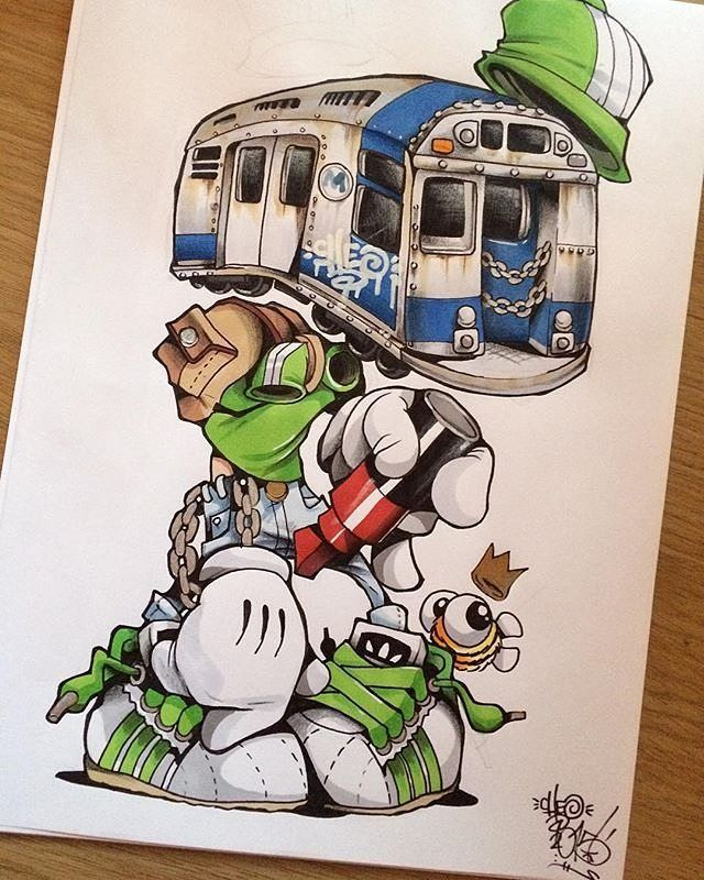 CHEO's (@cheograff) New York Trainface #ironlakstrikers by ironlak